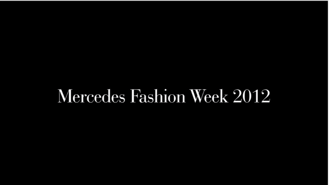 Youtube - Mercedes Fashion Week